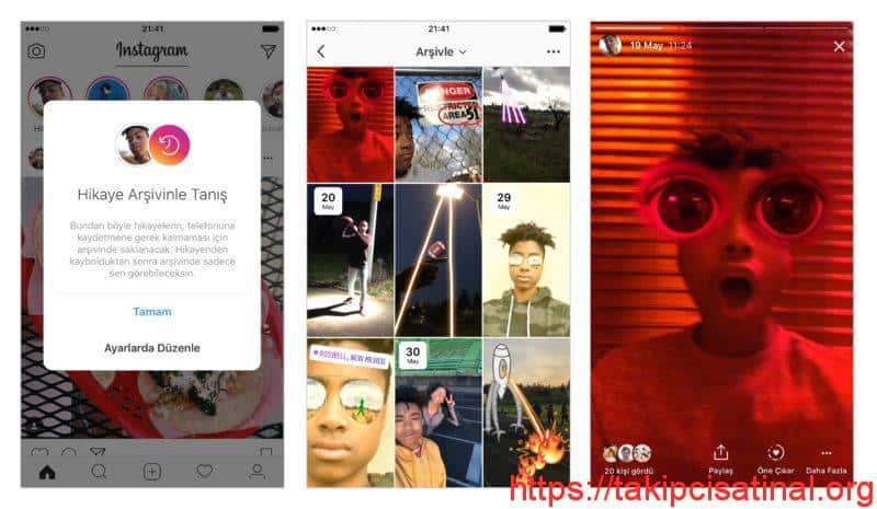 Instagram Hikayeler Arşivleme