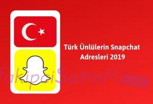 Türk Ünlülerin Snapchat Adresleri Güncel 2019
