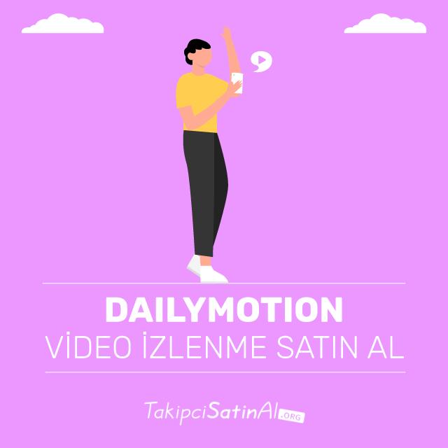 Dailymotion video izlenme satın al