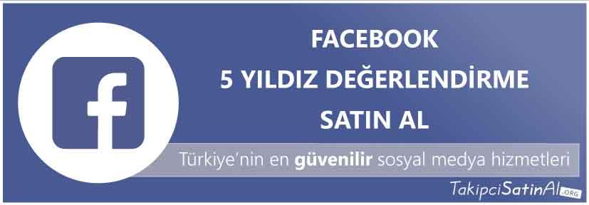 facebook 5 yıldız değerlendirme al
