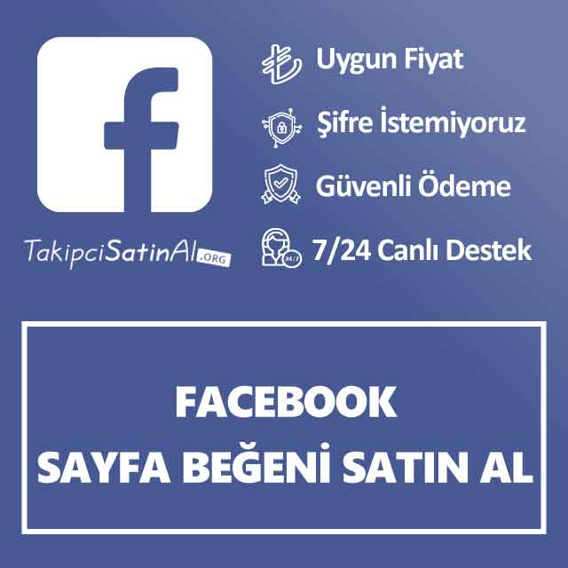 facebook sayfa beğeni satın al