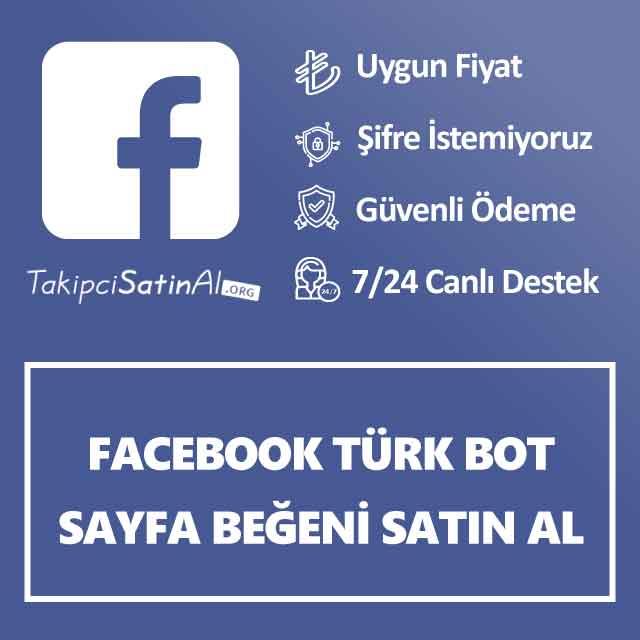 Facebook Türk Bot Sayfa Beğeni Satın Al