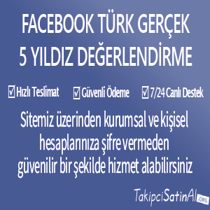 facebook türk gerçek 5 yıldız değerlendirme al