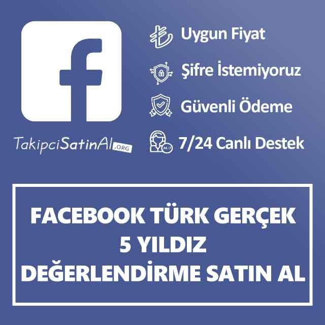 facebook türk gerçek 5 yıldız değerlendirme satin al