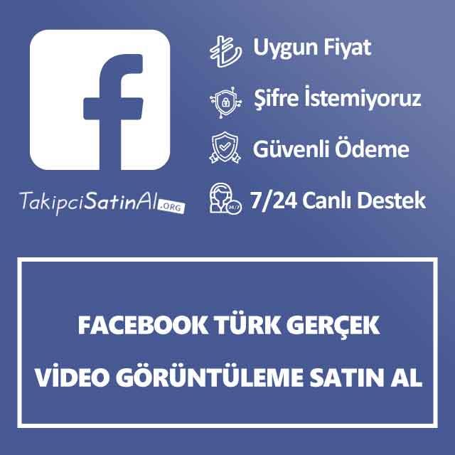 Facebook Türk Gerçek Video Görüntüleme Satın Al