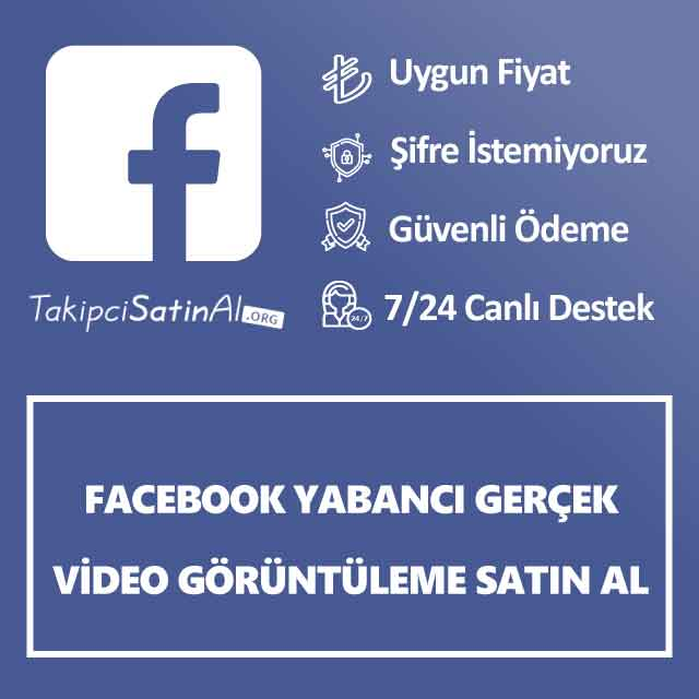 Facebook yabancı gerçek video görüntüleme satın al