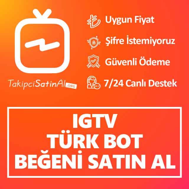 Instagram IGTV Türk Bot Beğeni Satın Al