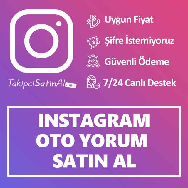 instagram oto yorum satın al