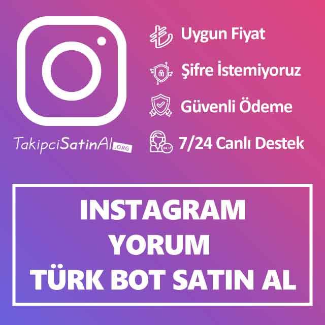 instagram türk bot yorum satin al