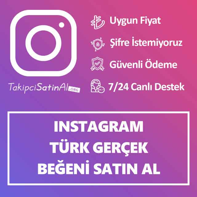 Instagram Türk Gerçek Beğeni Satın Al