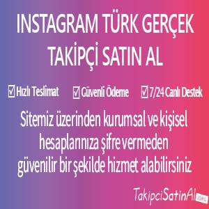 instagram türk takipçi al