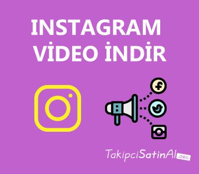 instagram video indirme aracı