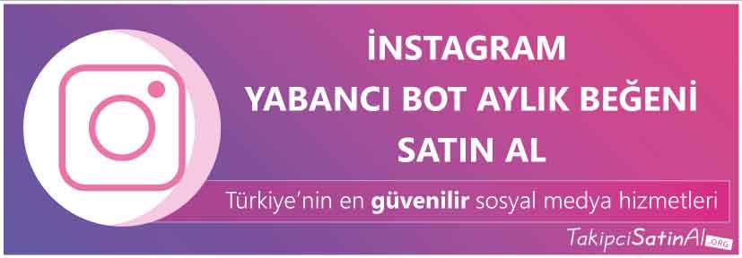 instagram yabancı aylik beğeni al