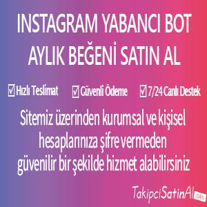 instagram yabancı bot aylık beğeni al