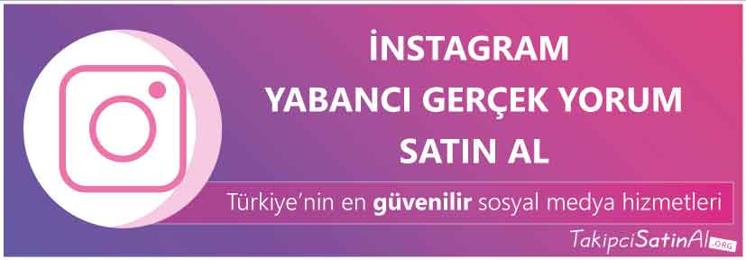 instagram yabancı yorum al