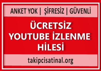 Ücretsiz youtube izlenme hilesi