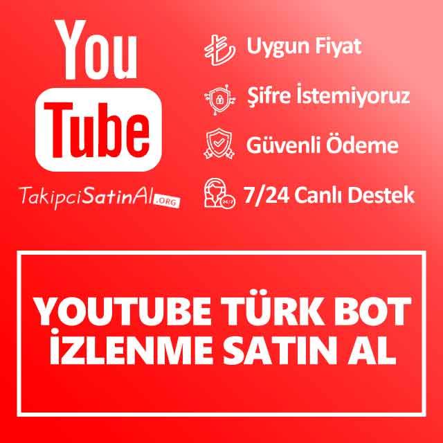 youtube türk bot izlenme satın al