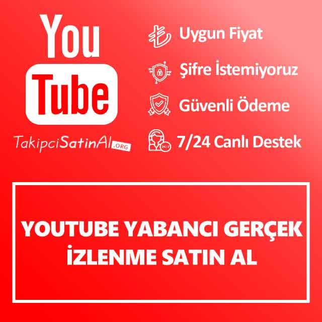 Youtube Yabancı Gerçek İzlenme Satın Al ₺20,00'den